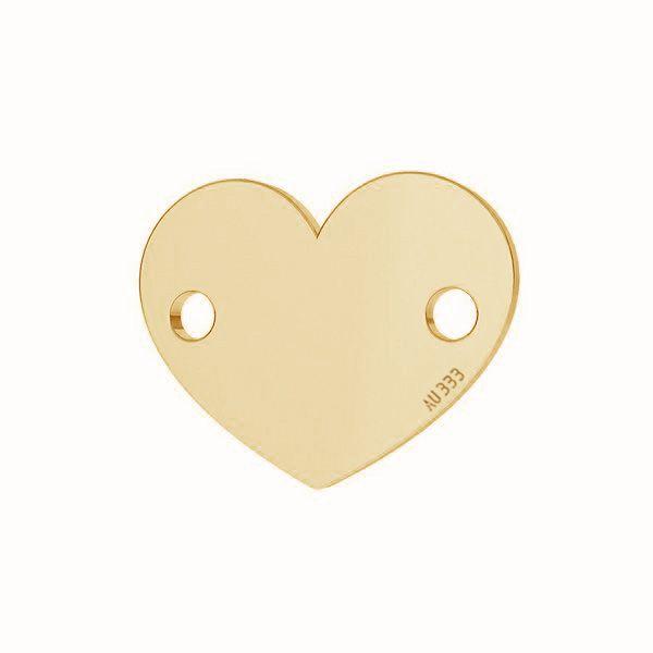 Heart tag pendant*gold 333*LKZ-30029 - 0,30 6x7,5 mm