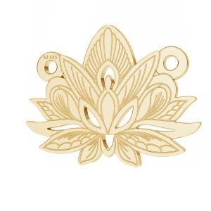 Lotos flower pendant*gold 585*LKZ14K-50050 - 0,30 12,3x15,8 mm