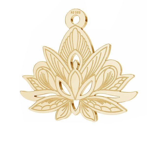 Lotos flower pendant*gold 585*LKZ14K-50049 - 0,30 14,4x15,8 mm