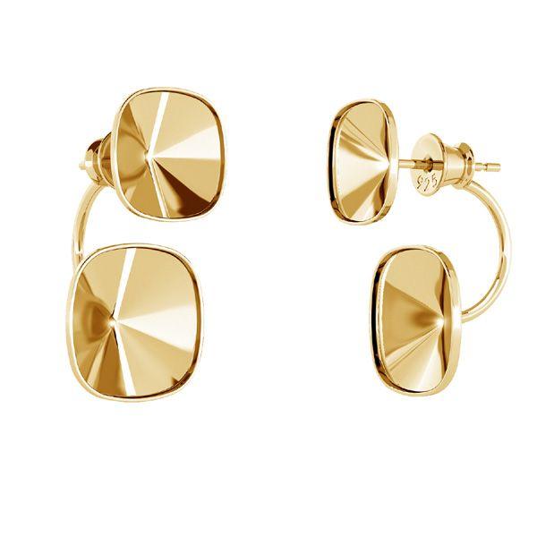 Ear back earrings Swarovski crystal base*sterling silver 925*OKSV 4470 SWING 12x25 mm (4470 MM 10,0 / 4470 MM 12,0)