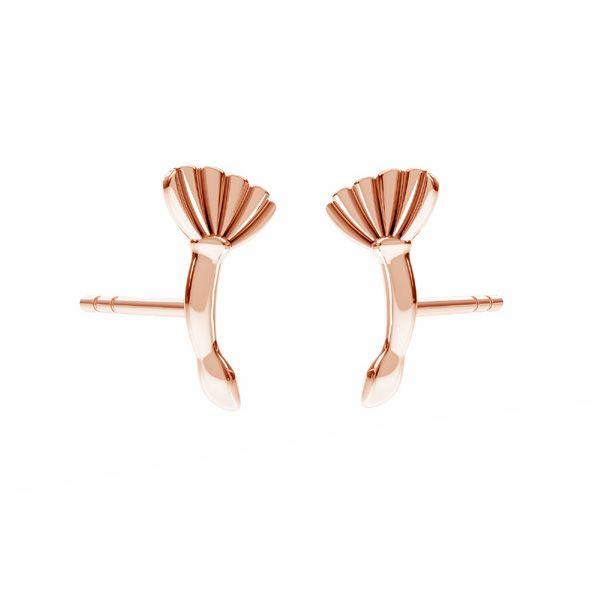 Dandelion earrings*sterling silver 925*ODL-00675 KLS 7,8x10,8 mm