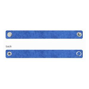 Bracelet Alcantara Base with pins - blue, ALC 02 1,2x20 cm