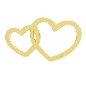 Double hearts pendant*gold AU 333*LKZ8K-30030 - 0,30 6x10,5 mm