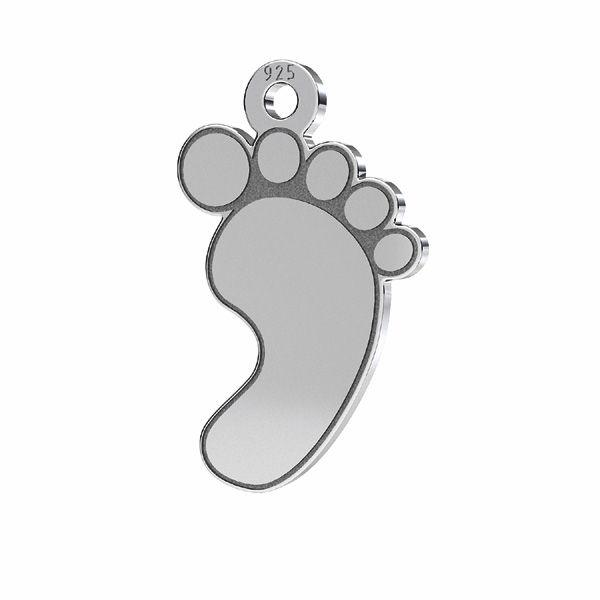 Baby feet pendant, sterling silver, LKM-2009 - 05