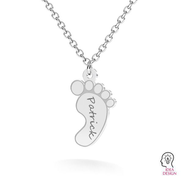 Baby foot pendant*sterling silver 925*LKM-2641 - 0,50 9x15 mm