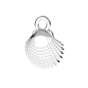 Shell pendant*sterling silver 925*ODL-00752 8,5x11 mm