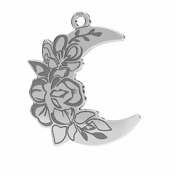 Moon pendant*sterling silver*LKM-2356 - 0,50 13x25 mm