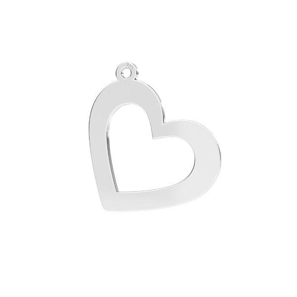 Heart pendant*sterling silver*LKM-2634 - 0,50