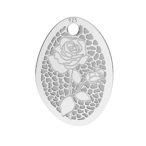 Poppies pendant*sterling silver 925*LKM-2678 - 0,50 10,9x15 mm