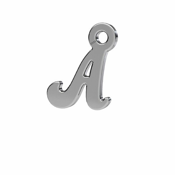 Letter A pendant*sterling silver 925*LK-0076 - 0,50 7,1x9 mm