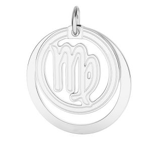 Virgo zodiac pendant*sterling silver 925*LKM-2590 - 0,50 ver.2 18x22 mm