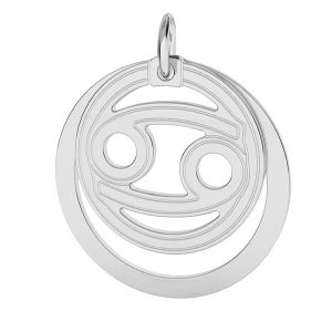 Cancer zodiac pendant*sterling silver 925*LKM-2589 - 0,50 ver.2 18x22 mm