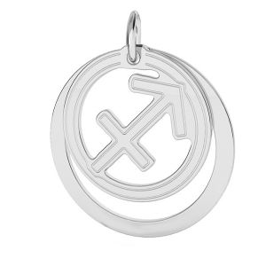 Sagittarius zodiac pendant*sterling silver 925*LKM-2593 - 0,50 ver.2 18x22 mm