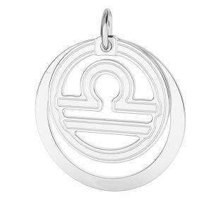 Libra zodiac pendant*sterling silver 925*LKM-2594 - 0,50 ver.2 18x22 mm