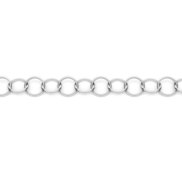Round hand made bulk chain*sterling silver AG 925*SOK 1x6,8 mm