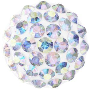 86601 MM6,0 01 001AB  - Cabochon Pave Crystal Ab