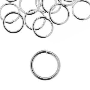 KC 1,5x6,2 mm - Open jump rings, sterling silver 925