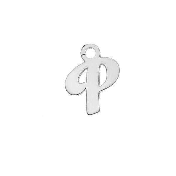 Letter T pendant*sterling silver 925*LK-0076 - 0,50 5,1x9,5 mm