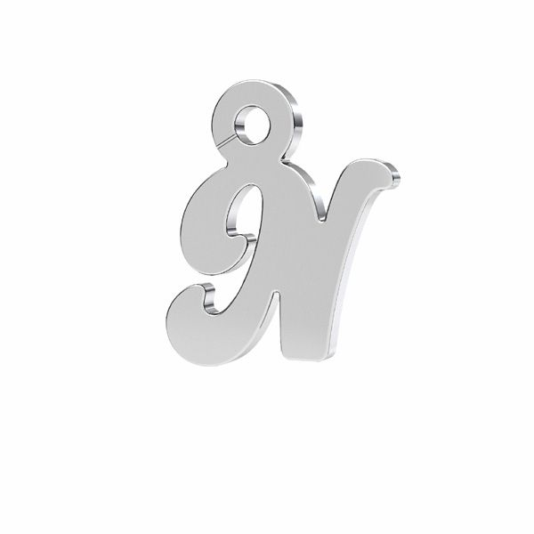 Letter R pendant*sterling silver 925*LK-0076 - 0,50 7x9,5 mm