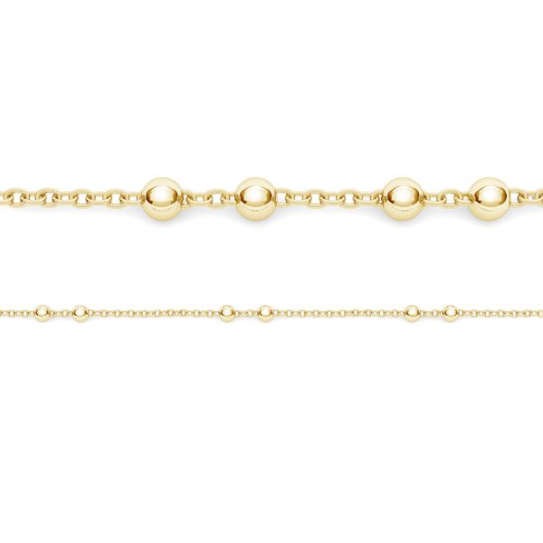 Anchor with ball 2mm sterling silver chain in meters - A 030 PL 2,0 1x2 mm ver.2