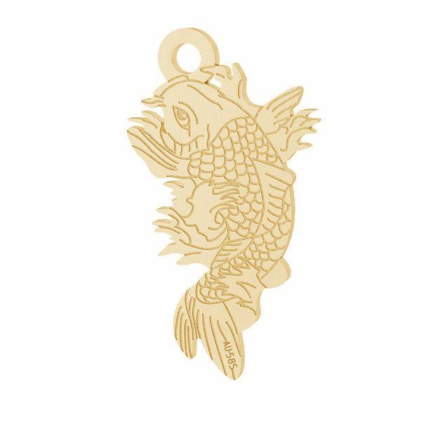 Fish Koi pendant*gold 585*LKZ14K-50090 - 0,30 10,6x19,2 mm