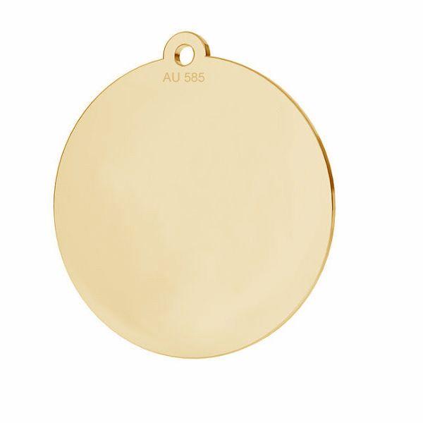 Round pendant*gold 585*LKZ14K-50088 - 0,30 18x19,5 mm