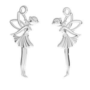 Fairy pendant*sterling silver 925*ODL-00765 13x26,5 mm