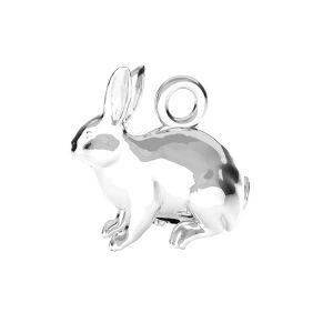 Rabbit pendant*sterling silver 925*ODL-00776 11,1x11,2 mm