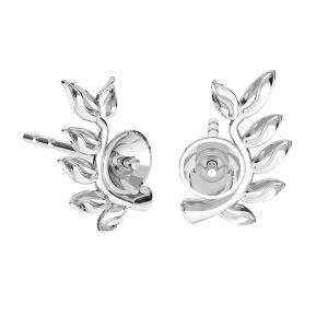Snake pendant base for Swarovski pearls*sterling silver*ODL-00774 4x22 mm (5818 MM 4, 5818 MM 6)