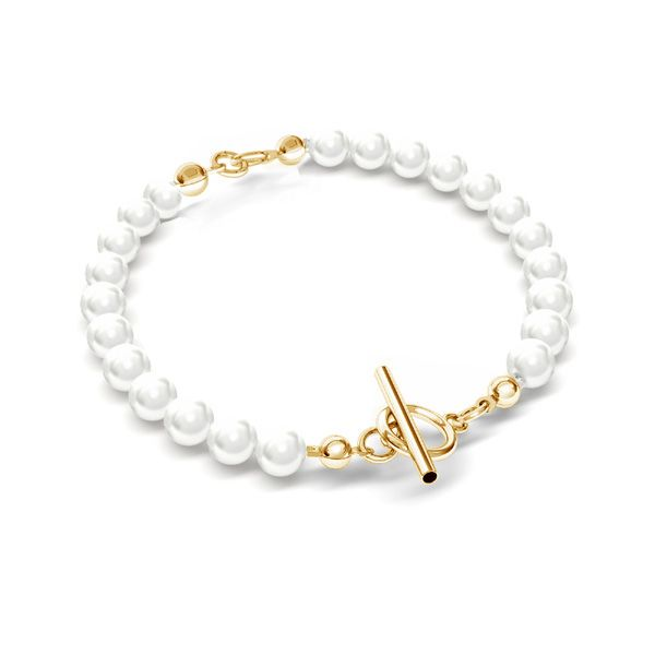 Pearls 6mm bracelet base*sterling silver 925*BRACELET 21 6x18 cm