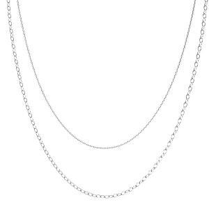 Necklace base*sterling silver 925*CHAIN 46 (A 030 / A 050)
