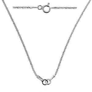 Necklace base for 1 pendant*sterling silver 925*CHAIN 49 42 cm (SUGAR 035)