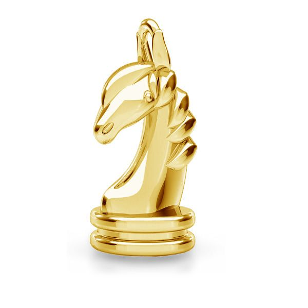 Chess horse pendant*sterling silver 925*ODL-00842 8,1x16,2 mm