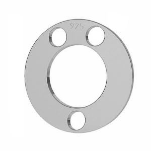 Round pendant tag, karma, connector, sterling silver 925, LKM-2894 - 0,50 12x12 mm