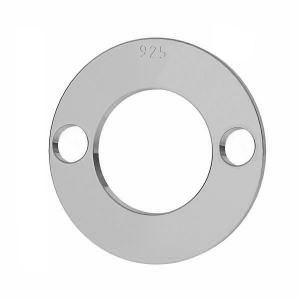 Round pendant tag, karma, connector, sterling silver 925, LKM-2895 - 0,50 12x12 mm