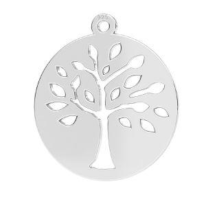 Tree pendant, sterling silver 925, LKM-2626 - 0,50 16x17,5 mm