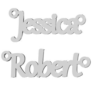 Your name or text  personalized pendant sterling silver 925*LK-2907 - 0,60 8,5 mm