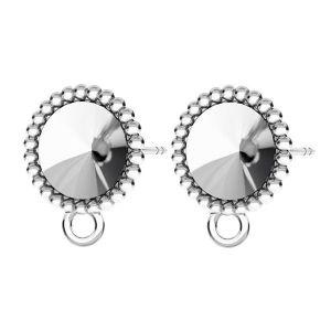 Earrings for Rivoli 8mm*sterling silver 925*KLS ODL-00247 8 mm (1122 SS 39)