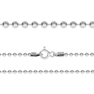 CPL 2,2 (38-75 cm), sterling silver ball chain