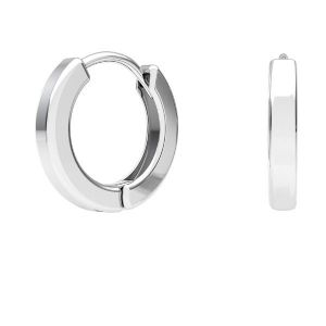 Hoop leverback, streling silver 925, BZO 4 ODL-00684 ver.2 11,5x11,5 mm