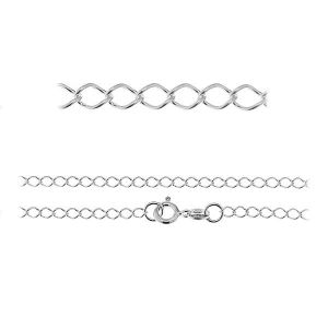 Rombo chain*sterling silver 925*R1 50 (40 cm)