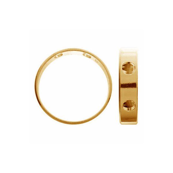 Trendy ring pendant, sterling silver 925, Pendant 013 5x16,2 mm