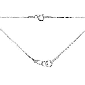 Necklace base, sterling silver, S-CHAIN 3 - 41 cm