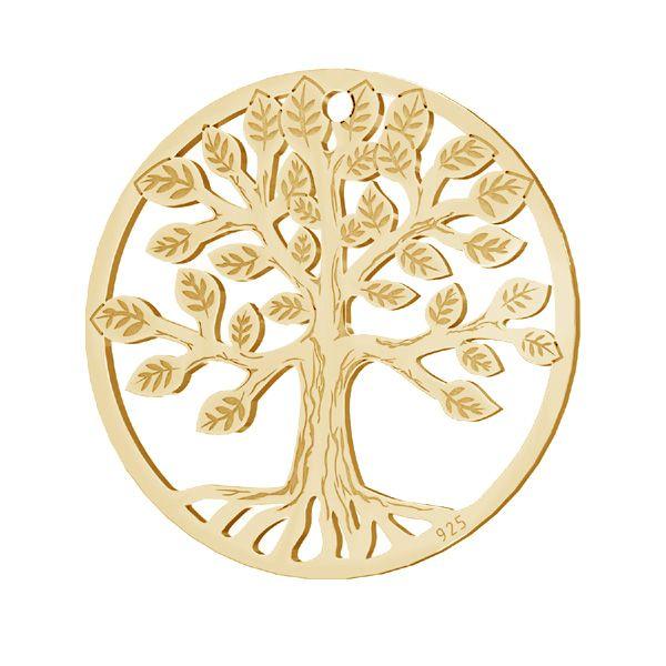 Tree pendant, sterling silver 925, LKM-2939 - 0,50 19x19 mm