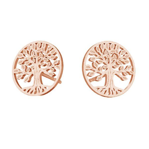 Tree of life earrings, sterling silver 925, KLS LKM-2938 - 0,50 11x11 mm