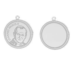 Pope John Paul II pendant, sterling silver 925, LKM-2946 - 0,50 25x25,5 mm