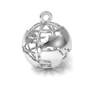 Moon pendant silver, sterling silver 925, CON 1 E-PENDANT 660 18x22 mm