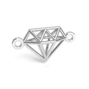 Origami diamond pendant silver, sterling silver 925, CON 1 E-PENDANT 654 9,55x17,6 mm