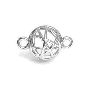 Hemisphere pendant silver, sterling silver 925, CON 1 E-PENDANT 645 8,4x13,3 mm