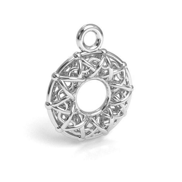 Donut pendant silver, sterling silver 925, CON 1 E-PENDANT 666 10,1x12,8 mm